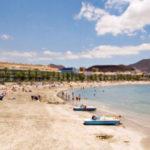 Sahara sand to regenerate the beach of El Camison in Arona, Tenerife