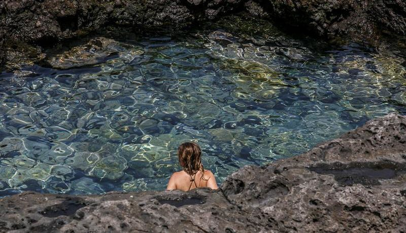 Crystal Water Pools La Jaquita in Guia de Isora, meets pools of paradisiacal turquoise and black sand beaches between volcanic rocks