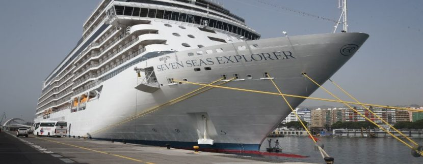 World's most luxurious ship Seven Seas Explorer arrives in Tenerife