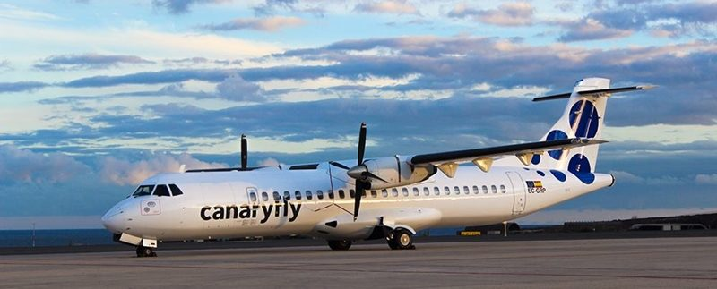 Canaryfly (IATA : PM, ICAO : CNF) new route between Tenerife and Lanzarote from October 2016 with 7 weekly flights
