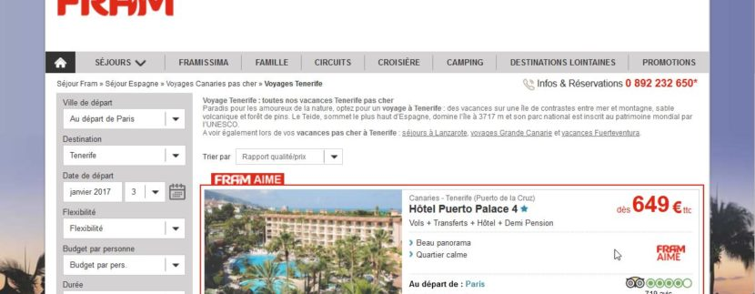 Agents of the French tour operator Voyages FRAM know the tourist attractions of Tenerife