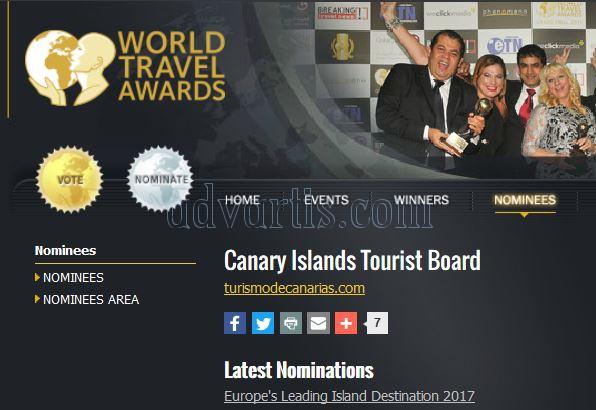 Europe Leading Island Destination 2017 - Canary Islands