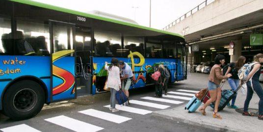 TITSA Tenerife new bus stop in Tenerife North airport Los Rodeos