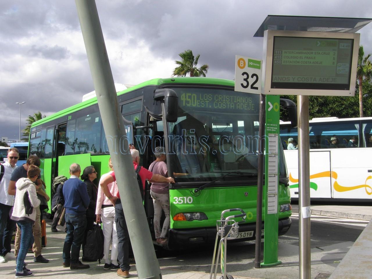 Tenerife bus in Tenerife South airport