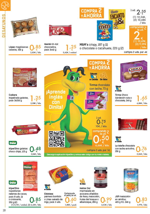 Tenerife prices food drink - HiperDino 23 february - 8 march 2018