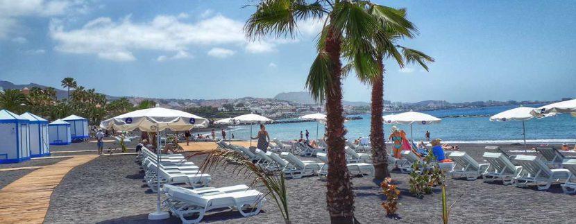 El Beril beach reopened in Costa Adeje Tenerife April 23 2018