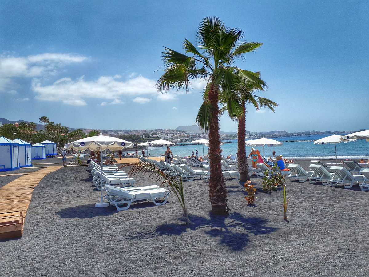 El Beril beach reopened in Costa Adeje Tenerife April 23 2018