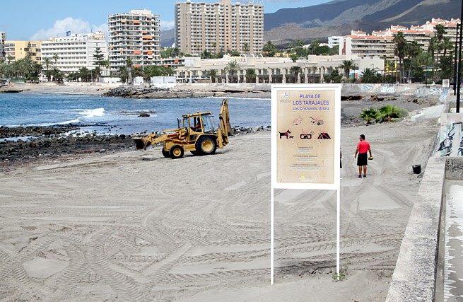Los Tarajales beach Tenerife complete remodeling coastal promenade