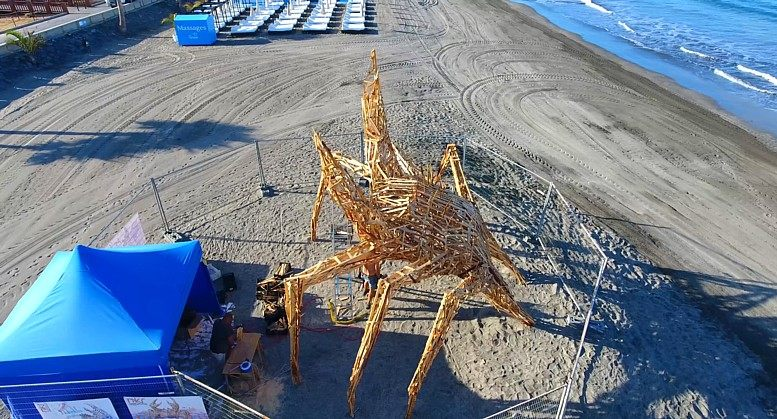 On June 23, 2018 people will come to the beach Playa Fanabe (Adeje, Tenerife) to celebrate the night of the San Juan 2018 bonfires, which is traditionally seen as the night marking the beginning of summer and seasonal activities.
